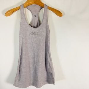 Lululemon Soulcycle Tank Tops Gray silver Womens 4